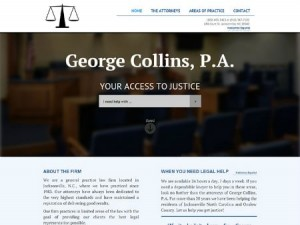 screenshot image of George Collins website