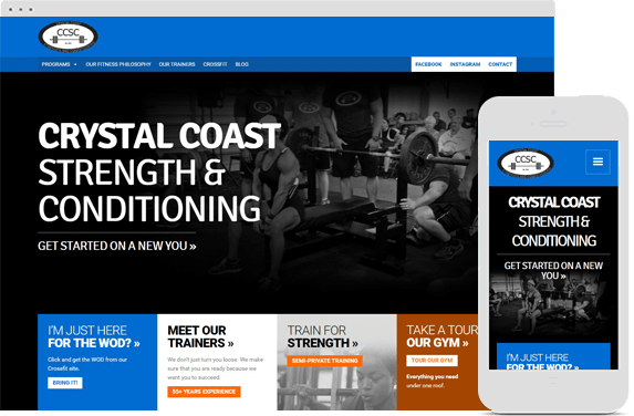 Responsive Website for Crystal Coast Strength and Conditioning